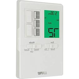LuxPro 1 Heat 1 Cool Vertical Programmable Thermostat - P711