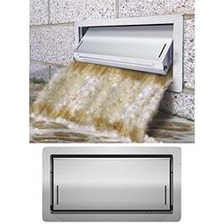 "Smart Vent 1540-520, 8""x16"" Insulated Flood Vents, Stainless"