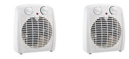 2 pack ProFusion Electric Thermostat Heater and Fan White