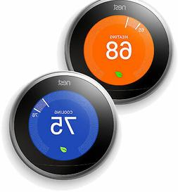 2 Pack Nest Learning Thermostat 3rd Generation WiFi Control