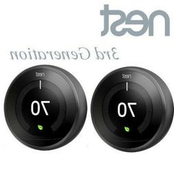 2 Pack Lot Set Nest T3016US Learning Thermostat 3rd Generati