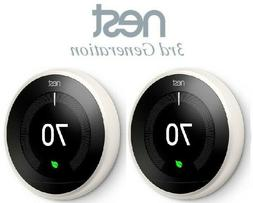 2 Pack Set Nest T3017US Learning Thermostat 3rd Generation G