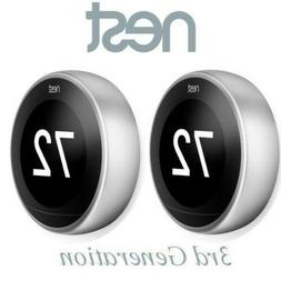 2 Pack Nest  T3008US Learning Thermostat 3rd Generation Gen