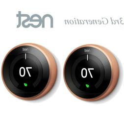 2 Pack Nest T3021US  Smart Learning Thermostat 3rd Generatio