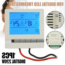 220V Digital LCD Display Heating Programmable Thermostat Tem
