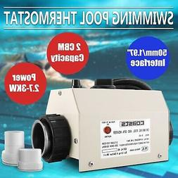 Electric Water Heater 3KW 220V Swimming Pool SPA Hot Tub Hea