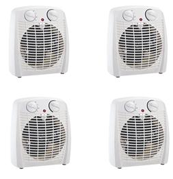 4 pack ProFusion Electric Thermostat Heater and Fan White