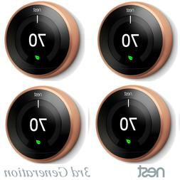 4 Pack Lot Nest Smart Learning Thermostat 3rd Generation Cop