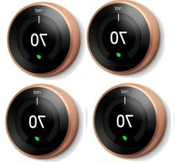 4 Pack Nest T3021US Smart Learning Thermostat 3rd Generation