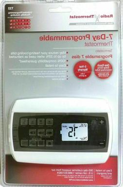 Radio Thermostat 7 Day Programmable One Touch Energy Saving