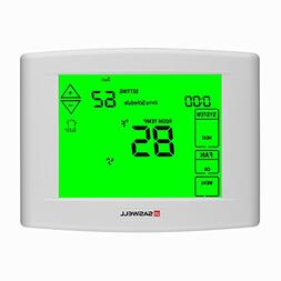7 days Programmable Touch Screen Thermostat for Home, With L
