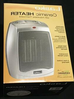 Lasko 754200 Ceramic Heater with Adjustable Thermostat Silve