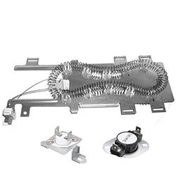 Siwdoy 8544771 Dryer Heating Element and 279973 Thermal Cut-