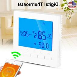 App Control LCD Digital Touchscreen Programmable WiFi Thermo