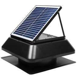 Attic Fan Solar with Thermostat Household Studio Vent Fan 20