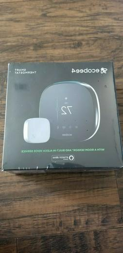 BRAND NEW Ecobee4 Alexa-Enabled Smart Thermostat With Room S