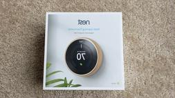 BRAND NEW Nest Learning Smart Thermostat 3rd Gen BRASS COLOR