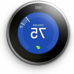 Google T3007ES Nest 3rd Gen. Learning Thermostat - Stainless