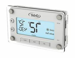 Clear Comfort Programmable Thermostat with Large, Easy-to-Re
