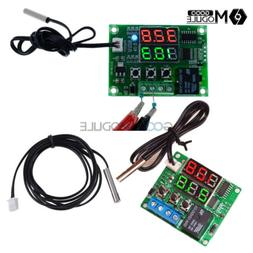 DC 12V/5V Digital Dual LED Timer Temperature Controller Ther