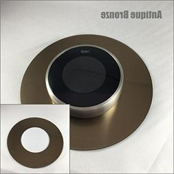 "Decorative 6"" Round Nest Thermostat Wall Plate"