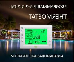 Digital Thermostat, 5+2 Day Programmable – Large Backlit L