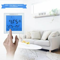 Electric Heating Touch Screen Thermostat Blue Backlight for