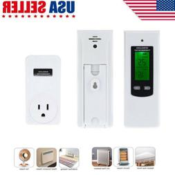 Home Wireless RF Plug In Thermostat Heating Cooling Temperat