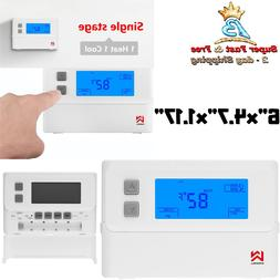 HVAC Thermostat With Accurate Temperature Control Large LCD