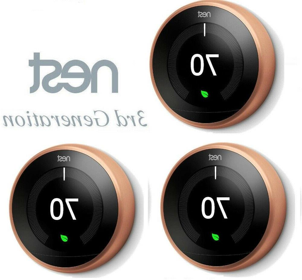 3 pack t3021us smart learning thermostat 3rd