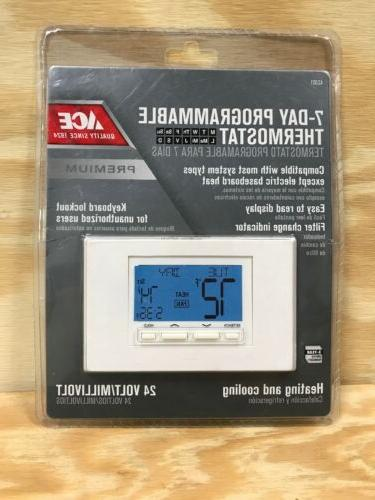 7 day programmable heating cooling thermostat 24