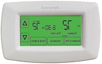 7 day programmable touchscreen thermostat rth7600d
