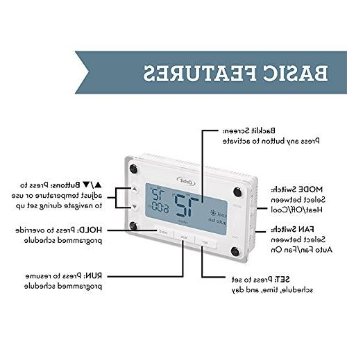 Orbit Clear Programmable Thermostat Easy-to-Read