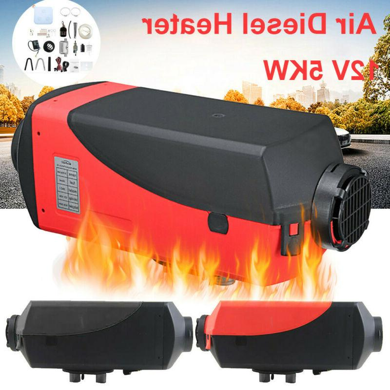 8kw 12v diesel air heater lcd thermostat