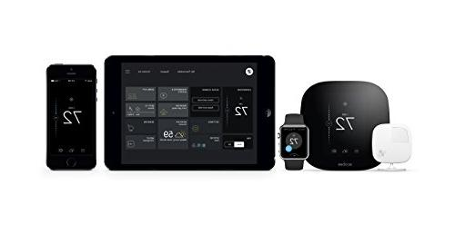 Ecobee - Programmable Touch-screen Thermostat Black/white
