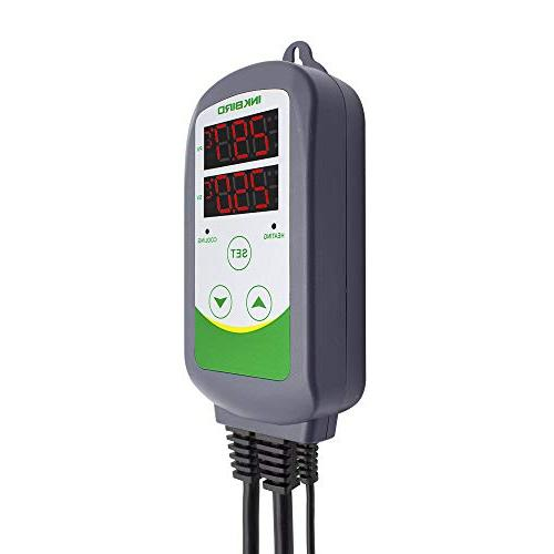 Inkbird Pre-Wired Dual Digital Temperature Outlet Thermostat and Cooling Kegerator