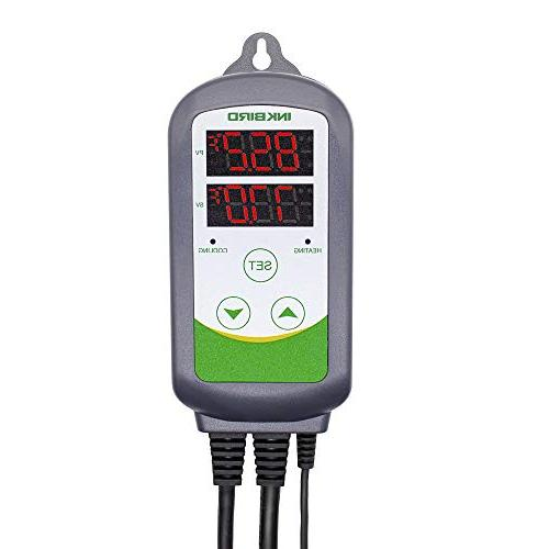 Inkbird Pre-Wired Dual Stage Digital Temperature Controller