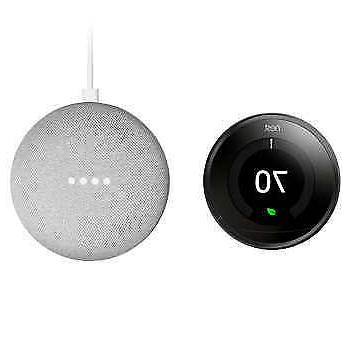 Nest Thermostat 3rd Generation and Google Mini Bundle
