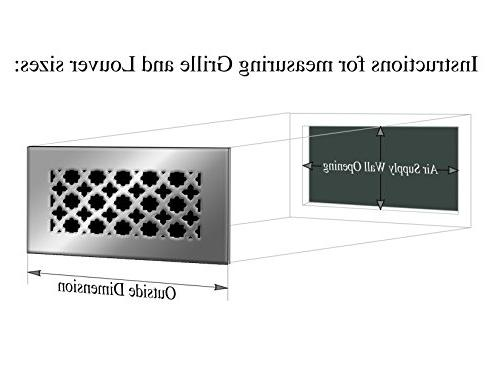 """SABA Air Vent Cover Grille - Fiberglass 8"""" 4"""" Opening Register and for Floor use,"""
