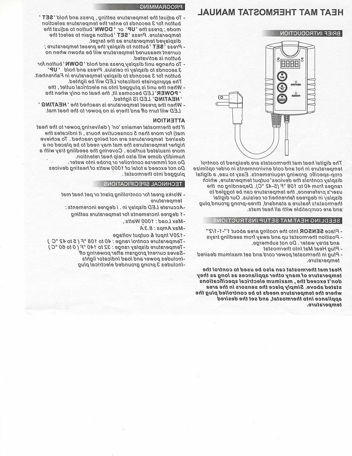 Century Thermostat Mat Seed 110V