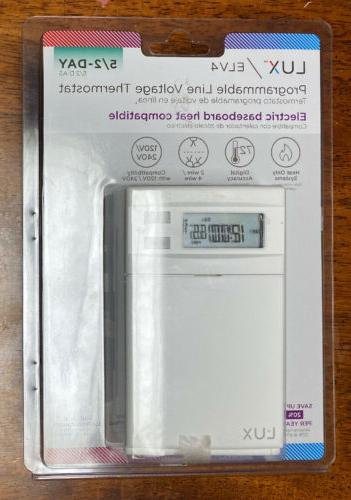 Lux 5-2 Day Programmable Line Voltage Heat Thermostat