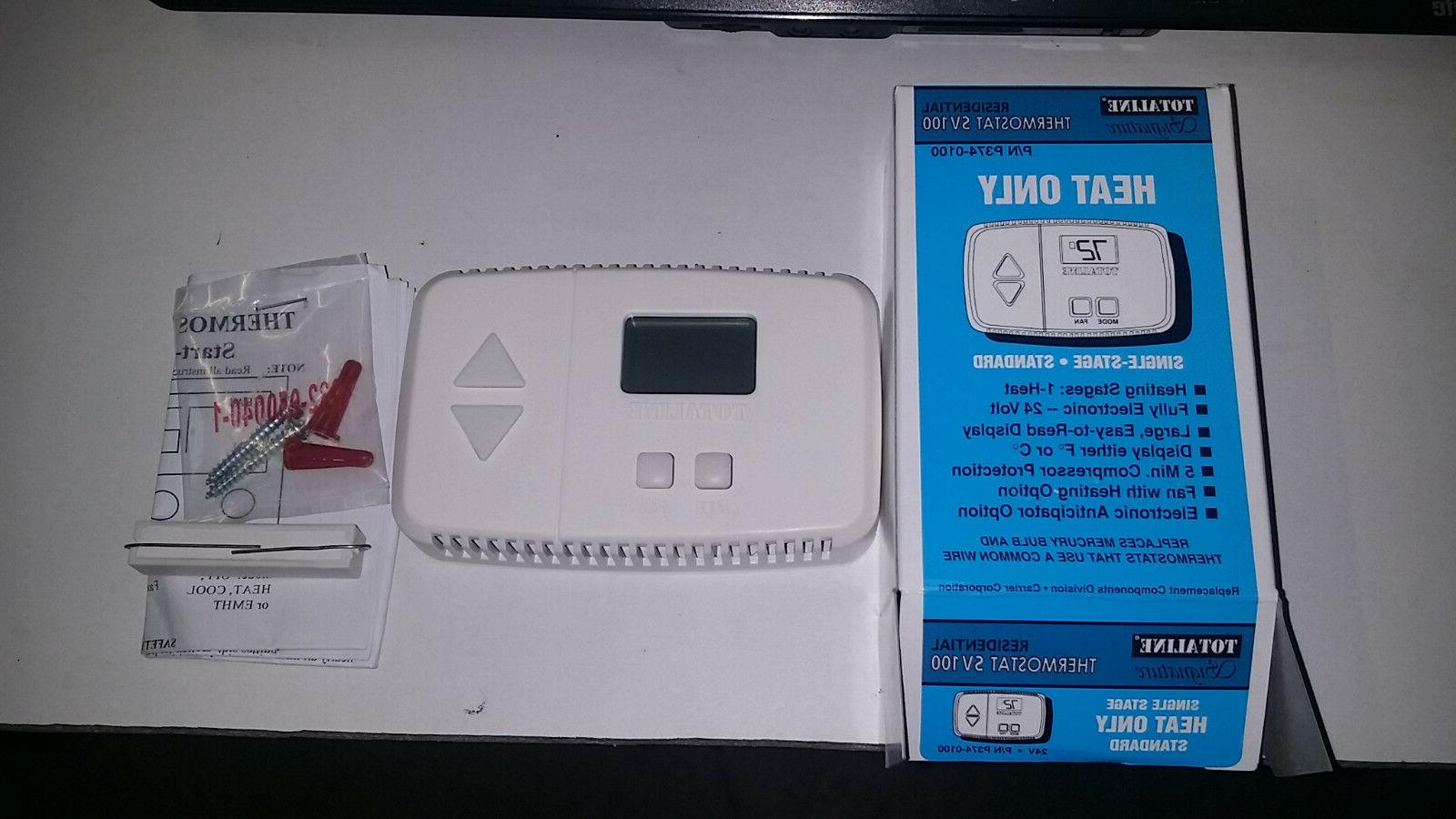 digital heat only thermostat new free shipping