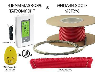50 Sqft Cable Set, Electric Radiant Floor Heat Heating Syste