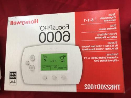 Honeywell 6000 5-1-1 Day Programmable Thermostat