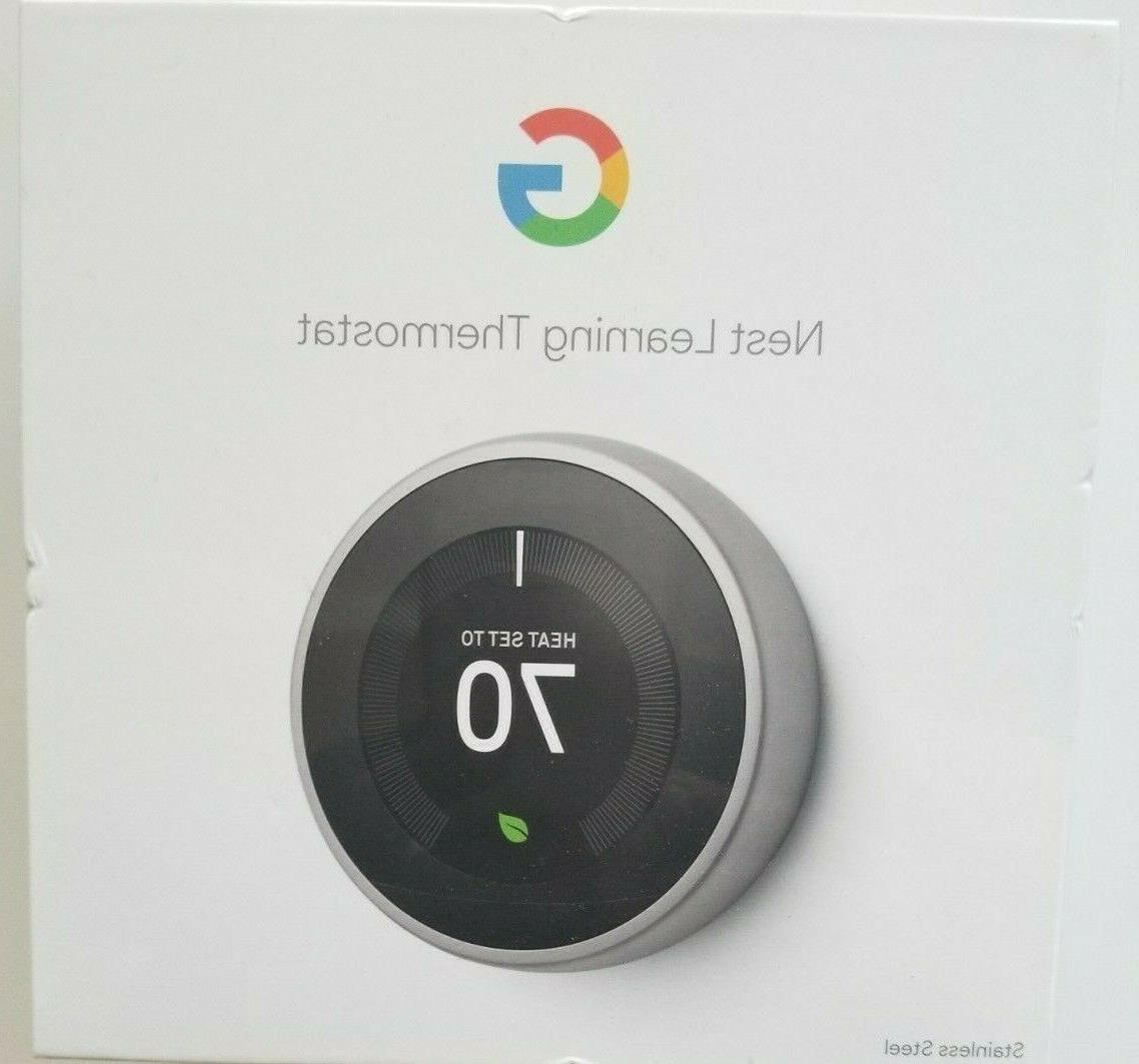 google learning thermostat t3007es 3rd gen stainless