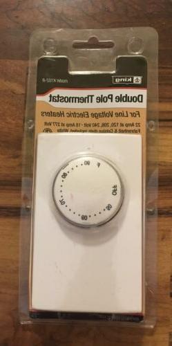 k102 r double pole thermostat white new