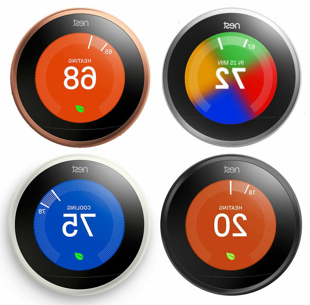 learning thermostat 3rd generation all colors brand