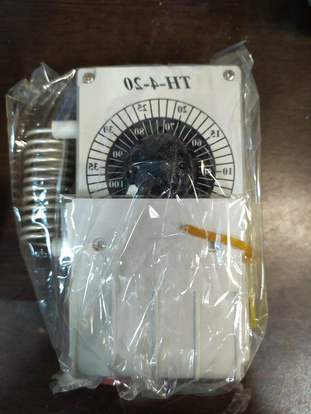 line voltage mechanical thermostat heating cooling ventilati