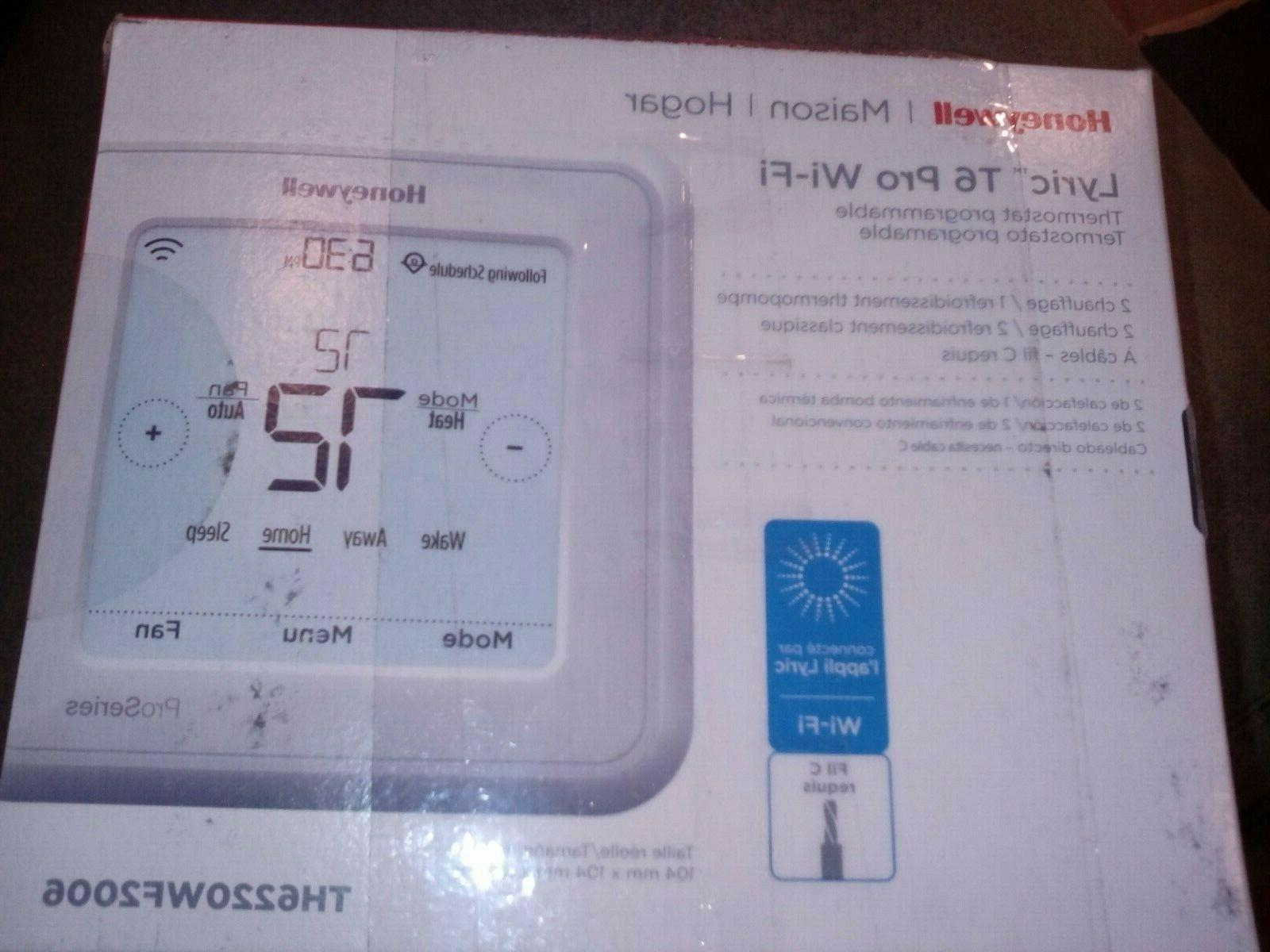 lyric t6 thermostat pro wifi programmable th6220wf2006
