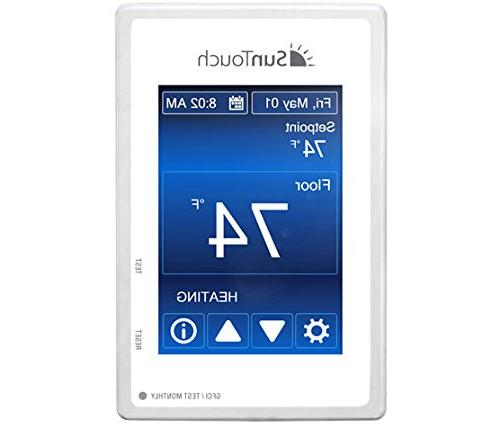 """SunTouch Kit sq 24"""" configurable to your easily installs tile/stone for added user-friendly Command Thermostat"""